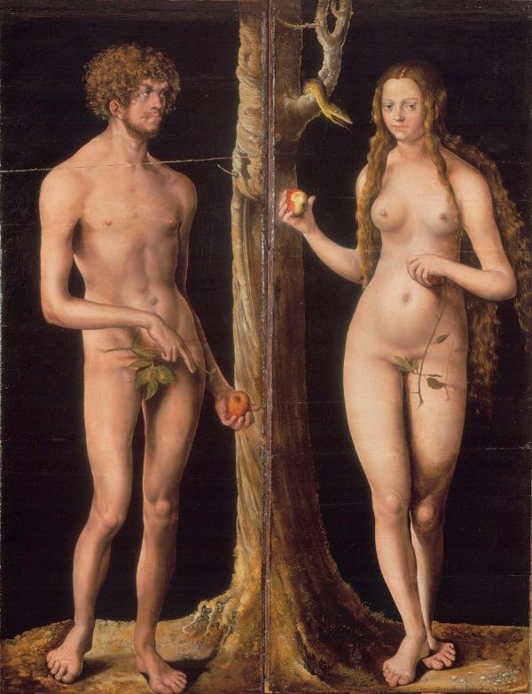 Gem‰lde (um 1510) von Lucas Cranach d. ƒ. [1472 - 1553]Systematik: Kulturgeschichte / Religionsgeschichte / AT / Adam und Eva / Bildnisse / Gem‰lde