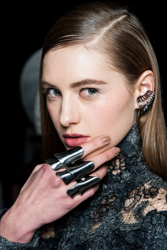 Pixelformula Donna Karan Womenswear Beauty Backstage Winter 2015 - 2016 Ready To Wear New York City